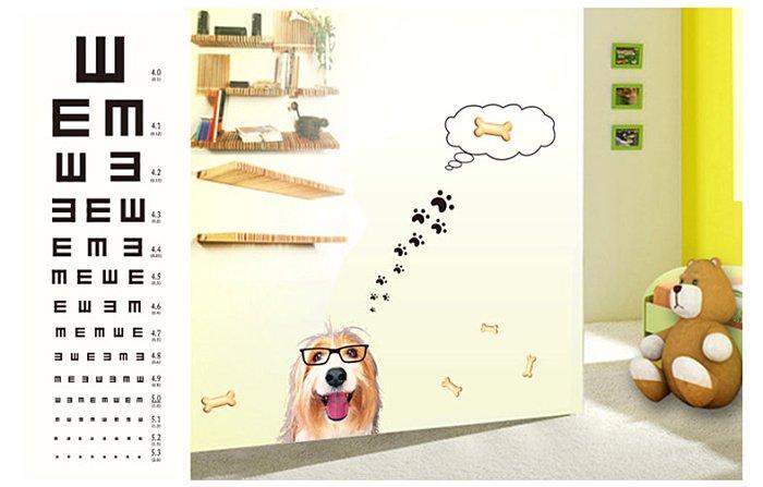 【壁貼王國】 視力貼系列無痕壁貼 《黃金獵犬 - AY6023》