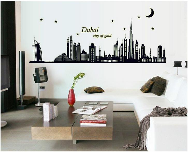 【壁貼王國】 夜光型系列無痕壁貼《杜拜 - ABQ9616》