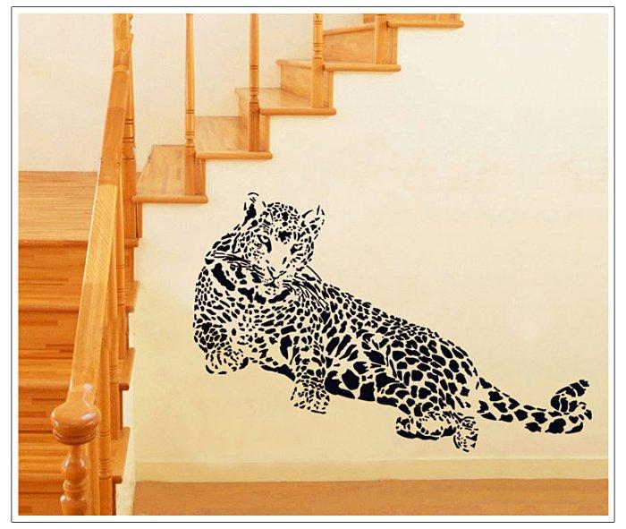 【壁貼王國】 古典系列無痕壁貼 《獵豹 - AY9029》