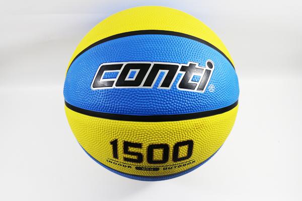 【陽光樂活】CONTI 高觸感雙色 橡膠 籃球 藍黃 2016全新配色 #7 贈品 160元Lotto 高級運動襪 乙雙 顏色任選