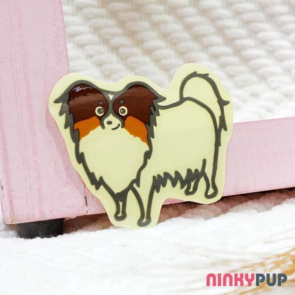 [反光貼紙] 蝴蝶犬 5.8*7 cm