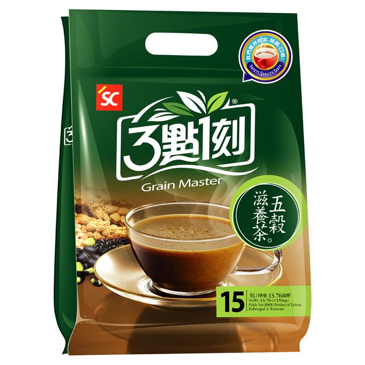 【3點1刻 五穀滋養茶(15包/袋)】數十種穀豆麥幫助腸胃做運動,含膳食纖維、零膽固醇,早餐的好朋友!