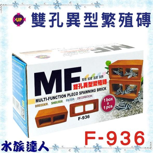 【水族達人】雅柏UP《雙孔異型繁殖磚 精緻陶瓷  空心磚 躲藏 過濾 裝飾 造景 F936)》(單入)
