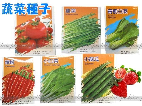 【EZ410】各種蔬菜種子  植物種子 辣椒.花椰菜.香菜...等【EZ410】◎123便利屋◎