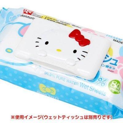 『日本代購品』三麗鷗 KITTY 可重複黏貼 濕紙巾蓋 濕巾蓋