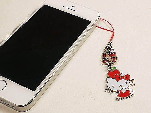 BO雜貨【SV3137】hello kitty 鋅合金吊飾 正版授權 手機吊飾 鑰匙圈 凱地貓 日本