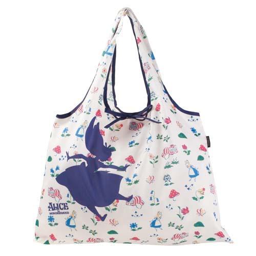 日本代購預購  滿600免運費 迪士尼 愛麗絲 輕便收納購物袋 手提袋外出袋 575-403
