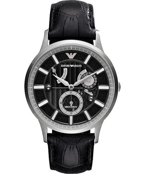 EMPORIO ARMANI/AR4659雅痞動能儲存機械腕錶/黑面43mm
