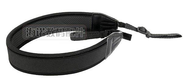 攝彩@通用型數位相機專用減壓背帶,黑色無字版【防滑設計,寬版加厚設計】單眼相機肩帶-20602