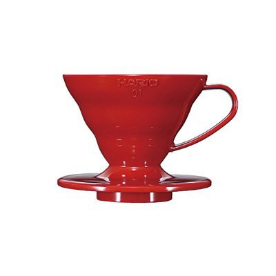 *新品上市*日本知名品牌 HARIO V60 紅色樹脂濾杯VD-01R