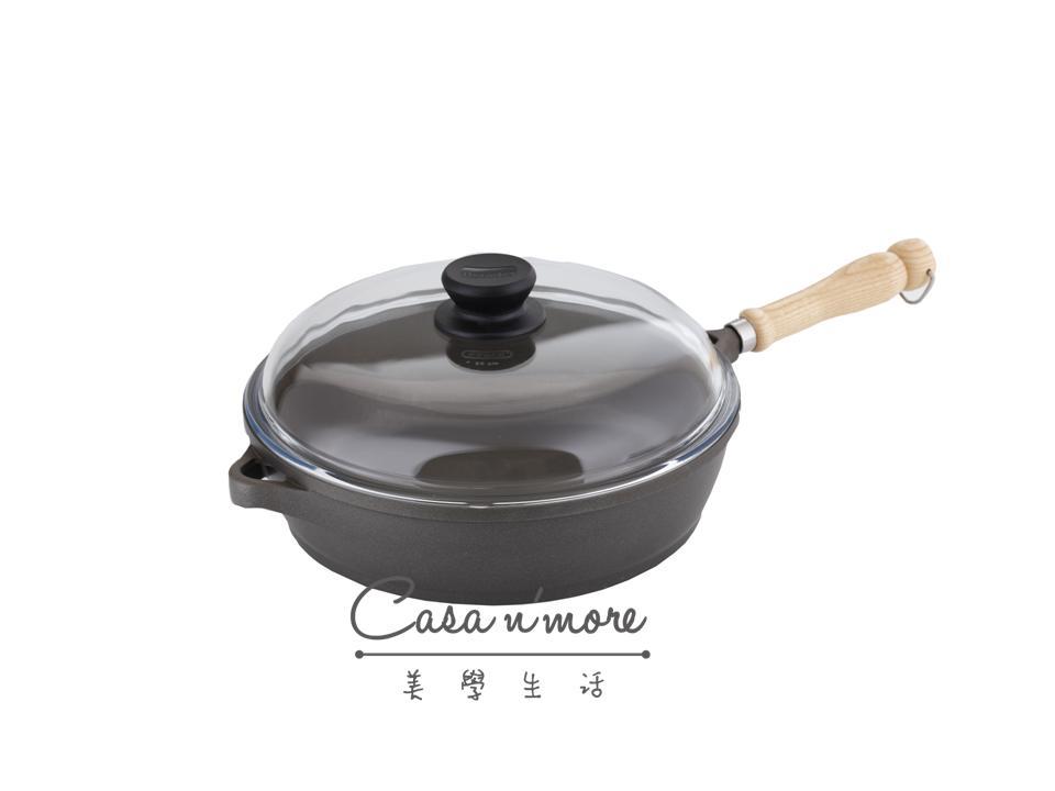 Berndes 寶迪 不沾鍋 木柄系列 28公分平底鍋+康寧鍋蓋組合