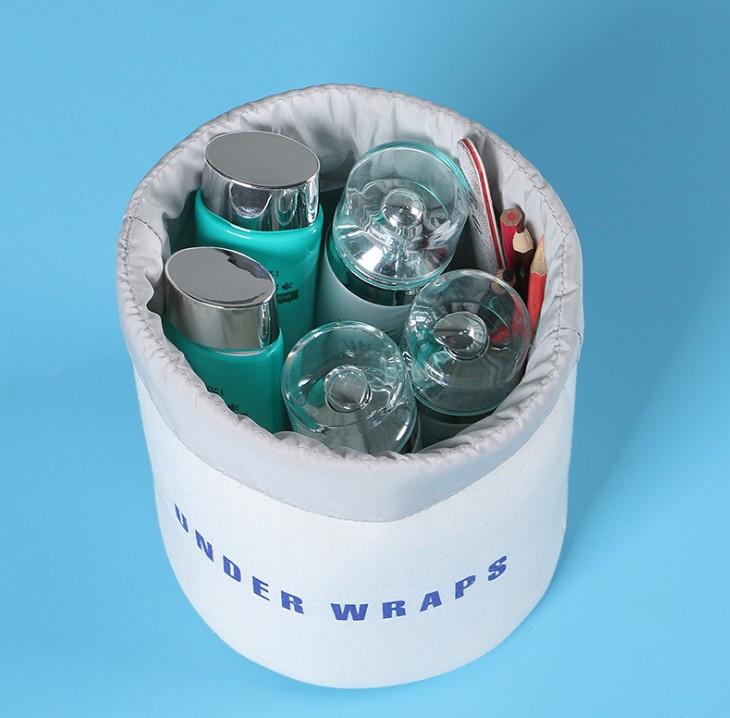 【旅行必備】韓國 圆桶形内衣收纳包洗漱化妆包女式旅行整理包 收纳袋