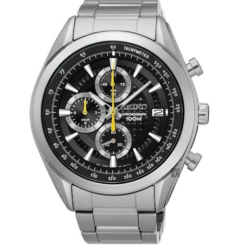 SEIKO 精工飆速快感大錶徑運動腕錶/45MM/45MM/黑/8T67-00A0Y/SSB175P1