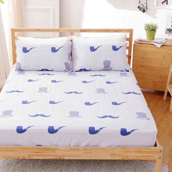 [SN]#B145#寬幅100%天然極緻純棉5x6.2尺雙人床包+枕套三件組*台灣製/SGS檢驗/床單/床巾