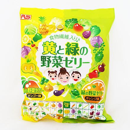 [敵富朗超市]AS-Foods綠黃元氣野菜果凍(432g)