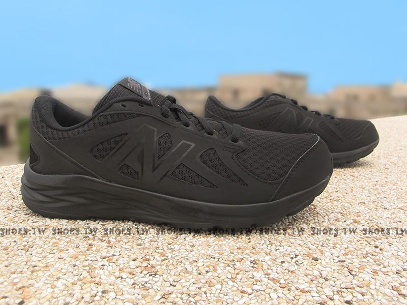 Shoestw【M490CK4】NEW BALANCE 慢跑鞋 全黑 2E楦頭 工作鞋 男生