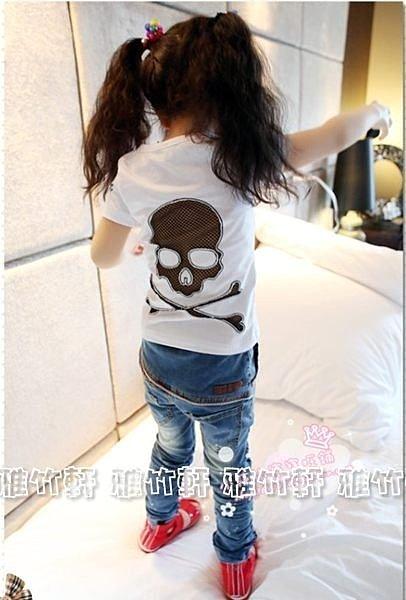 淇淇婦幼館 【XT014】100%棉質今夏新款男 女上衣 個性骷髏短袖T恤 短袖上衣