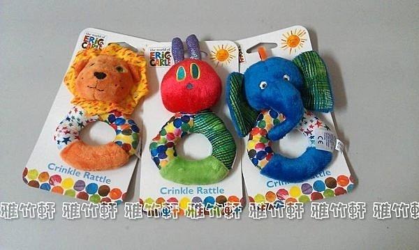 淇淇婦幼館【QQ032】可愛玩偶造型 可咬式 手搖鈴 搖鈴玩具 共三款 (生活館)