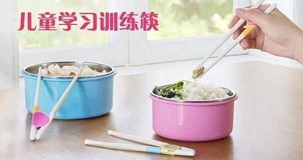 淇淇婦幼館【QQ239】暢銷新款寬頭糖果色兒童學習練習筷 粉色 綠色