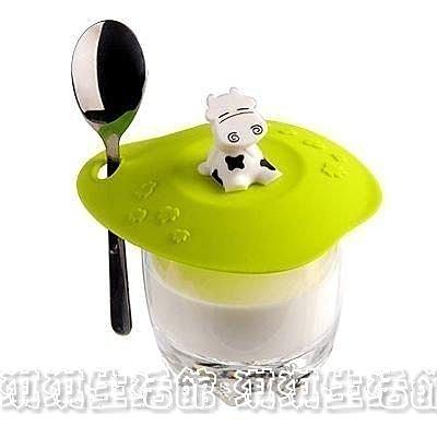 淇淇婦幼館【QQ153】大人小孩都喜歡的奶牛趣味杯蓋~防塵、防水、外觀佳(生活館)
