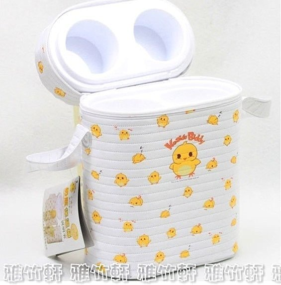 淇淇婦幼館【QQ330】卡迪小雞 多功能 雙桶 奶瓶保溫桶 / 保護套 / 保溫袋