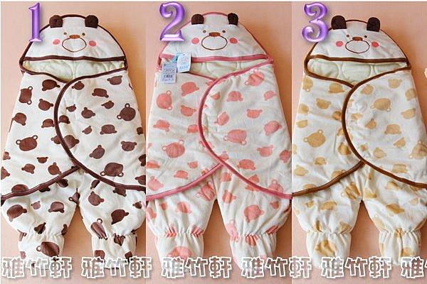 淇淇婦幼館【BJ003】冬天最保暖的抱被/睡袋, 熊寶寶新生兒連腳抱被/睡袋,手感絕對第一