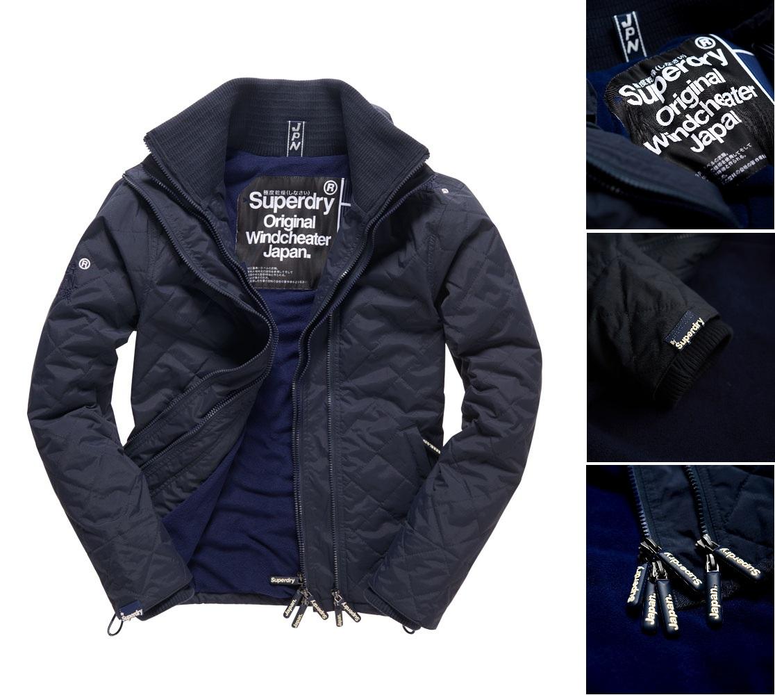 男款 極度乾燥Superdry Quilted Arctic Windcheater防風衣夾克 風衣 保暖 外套 海軍藍