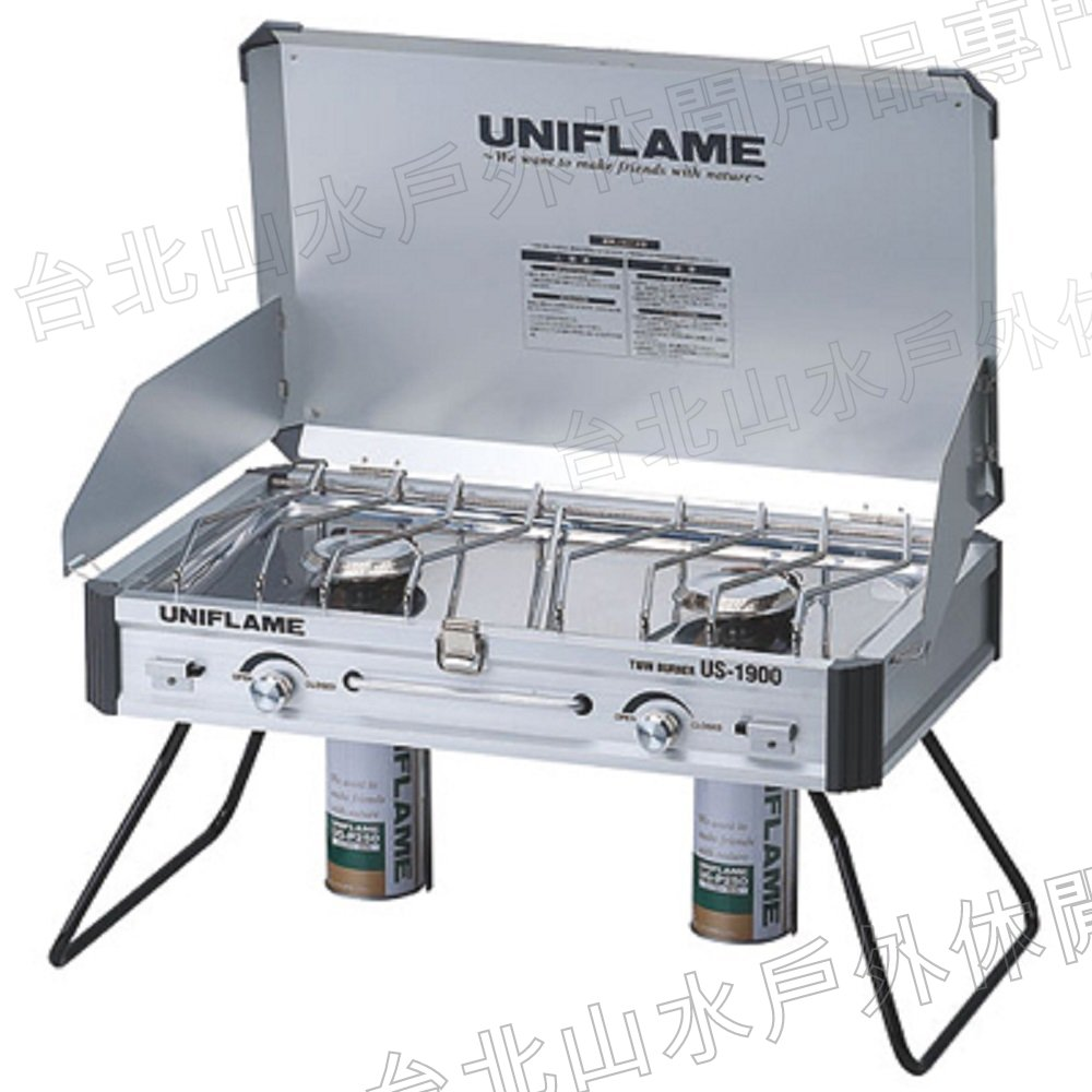 UNIFLAME US-1900瓦斯雙口爐/瓦斯爐 日本製 U610305