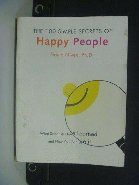 【書寶二手書T2/勵志_NKR】The 100 Simple...Happy People_NIVEN