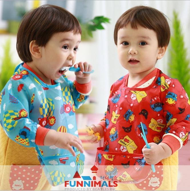 WallFree窩自在★可愛卡通防水耐髒超輕罩衣寶寶圍兜幼兒口水兜小童吃飯兜