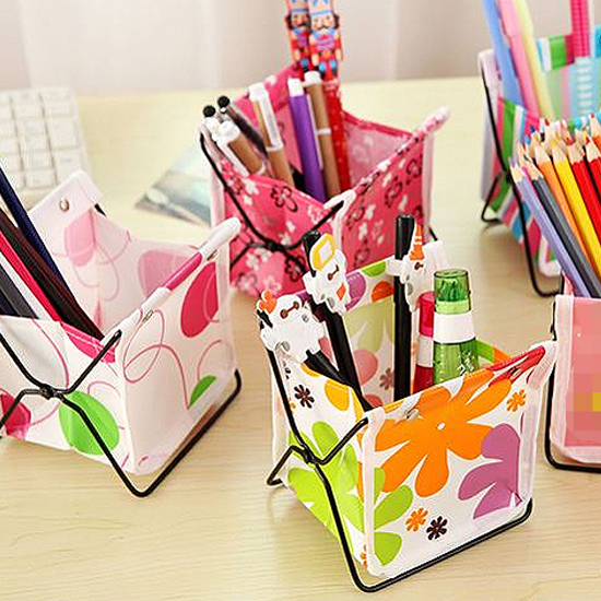 ♚MY COLOR♚鐵藝摺疊置物架 收納 筆筒 化妝品 雜物 工具 文具 整理 小物 桌面 學生【L177】