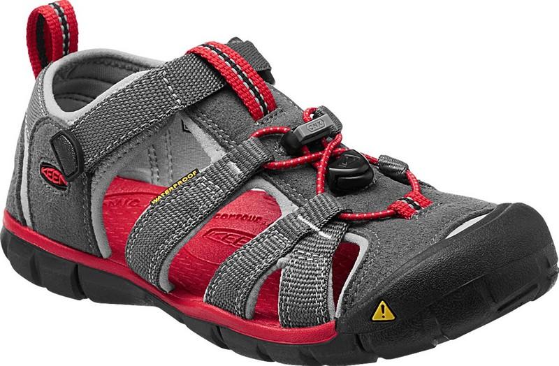 [ KEEN ] 涼鞋/運動涼鞋/護趾涼鞋/水陸兩用鞋/水陸鞋Seacamp II CNX 兒童款 1014126 灰/紅