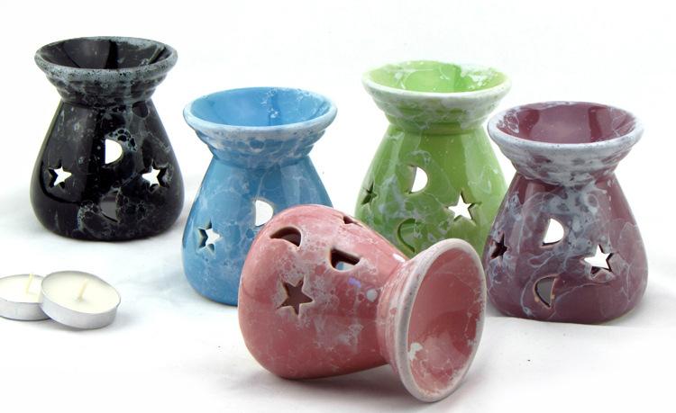 陶瓷香薰爐 香薰精油爐 蠟燭台 馬卡龍系列 家居日用品
