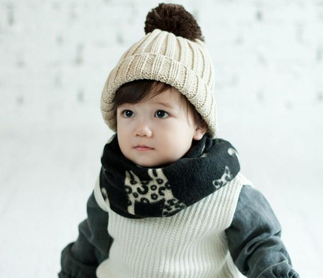 《任意門親子寶庫》男女童嬰兒寶寶圍脖 兒童圍脖-冬天必備品【BS163】小貓仿羊絨圍脖
