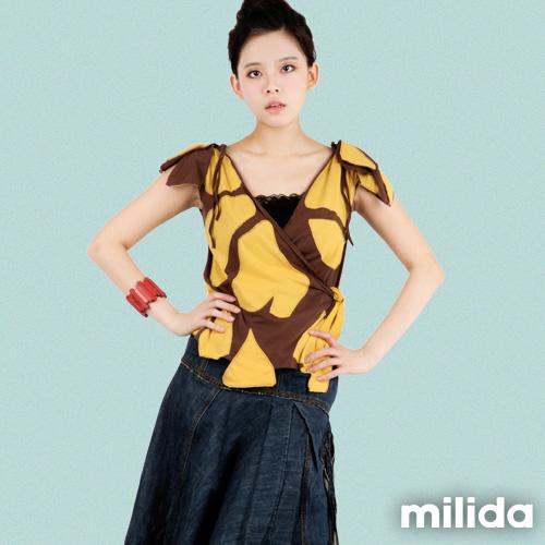 【Milida,全店七折免運】-春夏商品-無袖款-造型綁帶T恤