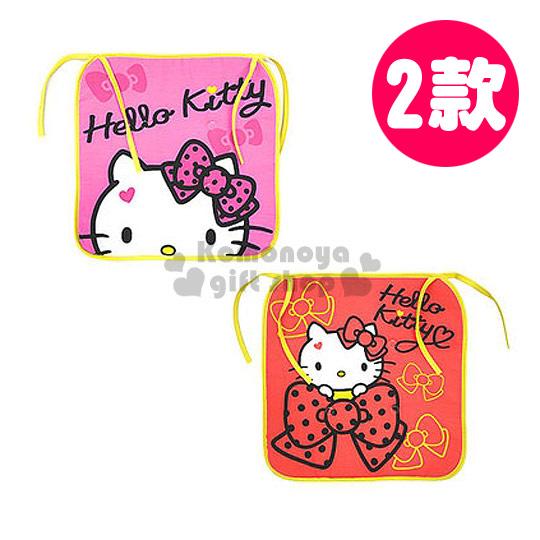 〔小禮堂韓國館〕Hello Kitty 方型坐墊《紅粉.2款選1.大臉.點點緞帶》