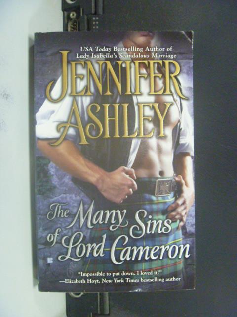 【書寶二手書T1/原文小說_GRX】The Many Sins of Lord Cameron