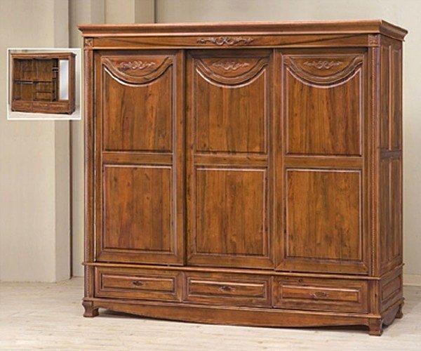【尚品家具】702-12 樟木全實木8尺房間收納衣櫃櫥 另有5尺衣櫥