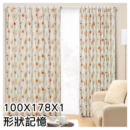 窗簾 BIRDY 100X178X1