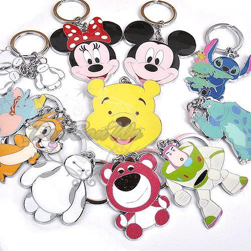 迪士尼米奇米妮維尼史迪奇杯麵毛怪熊抱哥蒂蒂小飛象巴斯光年鐵牌鑰匙圈073007海度