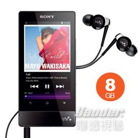 【曜德↘狂降】SONY NWZ-F804 黑色 8GB 數位隨身聽 觸控螢幕 ★免運★送EX20LP耳機+行動電源★