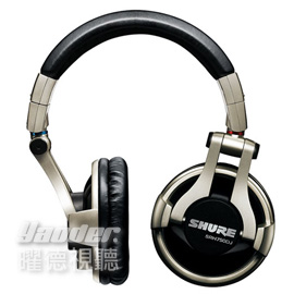 【曜德視聽】SHURE SRH750DJ 專業DJ款 耳罩式耳機 摺疊設計 ★免運★送收納盒★