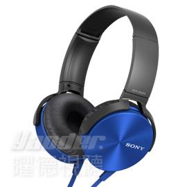 【曜德視聽】SONY MDR-XB450AP 藍色 重低音系列 免持通話 ★免運★送收納袋★