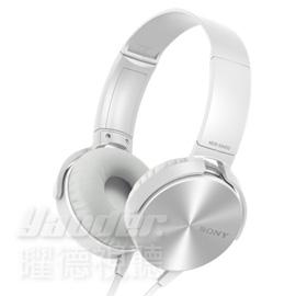 【曜德視聽】SONY MDR-XB450AP 白色 重低音系列 免持通話 ★免運★送收納袋★