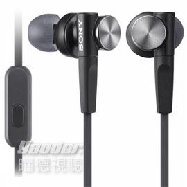 【曜德視聽】SONY MDR-XB50AP 黑色 支援手機免持通話 重低音 ★免運★送收納盒★