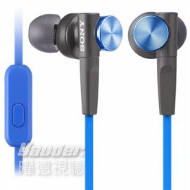 【曜德視聽】SONY MDR-XB50AP 藍色 支援手機免持通話 重低音 ★免運★送收納盒★