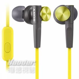 【曜德視聽】SONY MDR-XB50AP 黃色 支援手機免持通話 重低音 ★免運★送收納盒★
