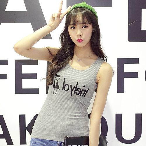 2015夏季新款韓版圓領無袖T恤 [B857_pw]