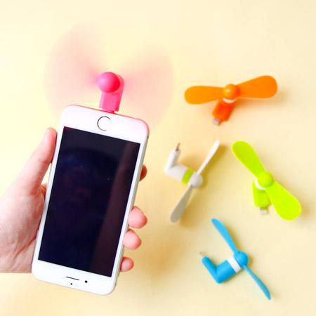 迷你手機隨身風扇 蘋果 安卓 適用 竹蜻蜓 靜音 降溫 USB風扇 iPhone Android【N201727】