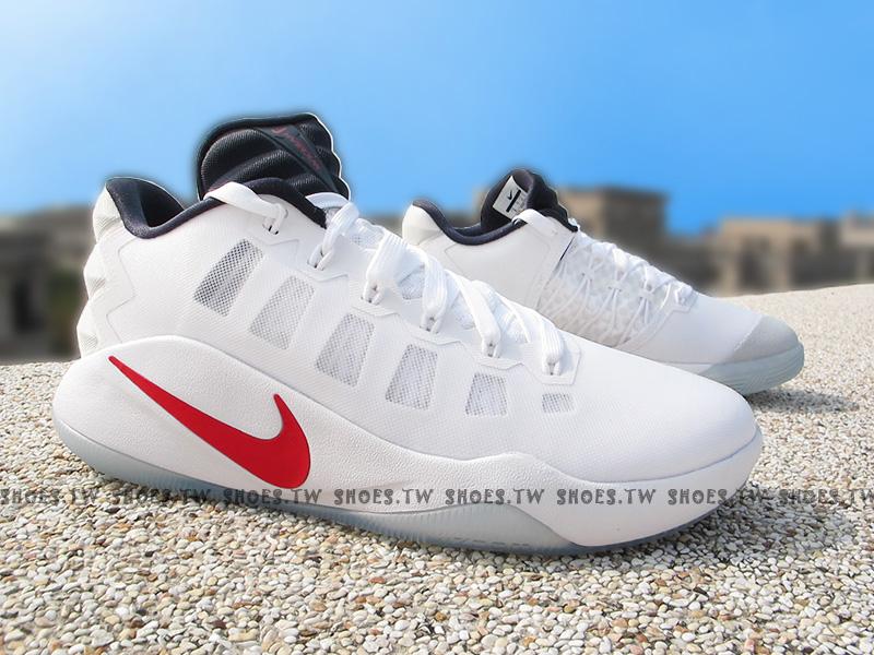 Shoestw【844364-146】NIKE HYPERDUNK 2016 LOW EP 籃球鞋 白紅
